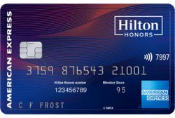 Hilton Honors American Express Aspire Card Table