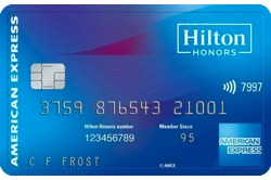Hilton Honors American Express Card Table